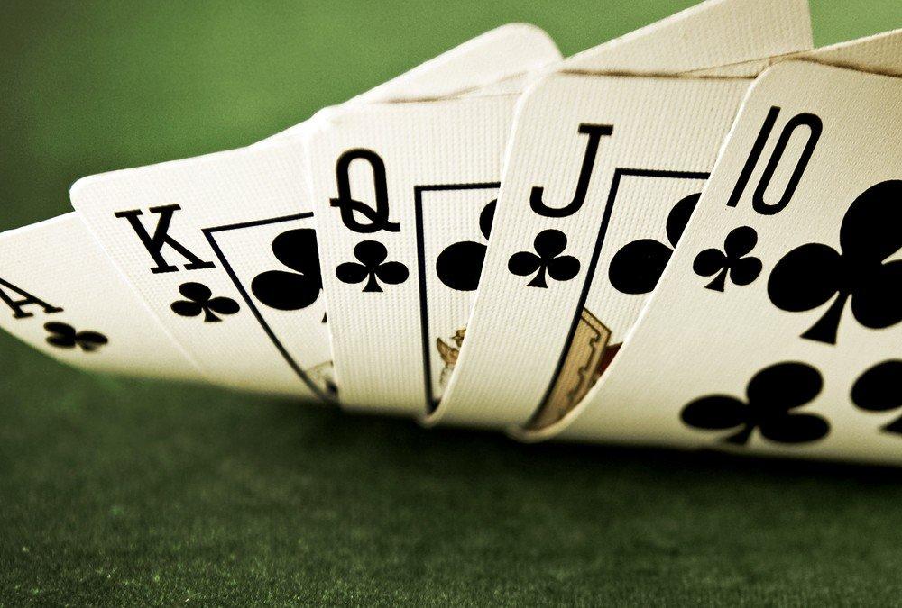 Five Hands of poker Card Trick