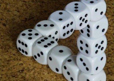 Dice Optical Illusion