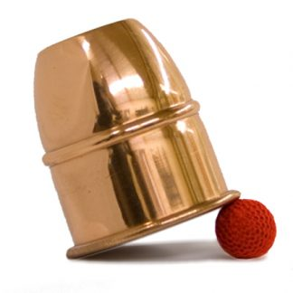 copper Chop Cup small with one ball