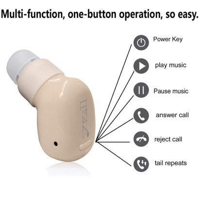 Stealth Bluetooth earpiece functions